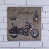 Pinturas de suspensão de madeira populares da placa com projeto da motocicleta