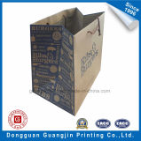 Saco de compra liso do papel de embalagem de Brown Para o empacotamento do vestuário e da sapata