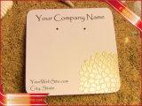 Напечатанные логосом карточки бумажной серьги ювелирных изделий вися от фабрики