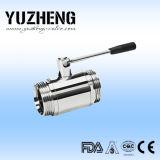 Válvula de esfera sanitária Dn15 da alta qualidade de Yuzheng