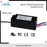 Programmierbarer konstanter Fahrer 30W 70~700mA des Bargeld-LED mit Plastikfall