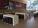 간이 식품 대중음식점 튼튼한 단단한 지상 테이블은 놓았다 (FOH-NRF1)