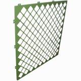 Panneaux de mur en aluminium perforés de modèle décoratif
