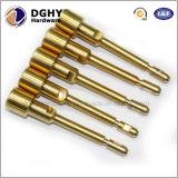 Peças de bronze fazendo à máquina do CNC da fabricação do OEM da precisão feitas em China