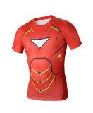 T-shirt da aptidão dos esportes dos homens da luva do Short da camada baixa da compressão (AKJSY2015037)