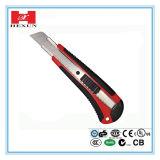 Plástico com a faca de serviço público do cortador lâmina de borracha do carregamento do PCS do punho 6 do aperto da auto