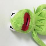 Giocattolo farcito molle del regalo del burattino dei capretti divertenti della rana della peluche di Kermit