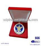 Kundenspezifischer weicher Decklack-Metallmedaillen-Geschenk-Kasten (w-123)