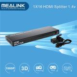1 bis 16 Support 3D 1 gab 16 ausgegebenen 1.3V 1080P 1X16 HDMI Teiler ein