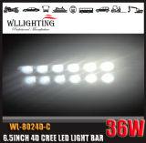 7 '' 36W barra chiara del CREE LED con l'obiettivo 4D
