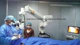 Microscópio de cirurgia oftalmológica com sistema de gravação de vídeo HD