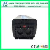 inversor del coche 6000W con el cargador y el indicador digital (QW-M6000UPS) de la UPS