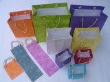 Подгонянная хозяйственная сумка бумаги качества печатание логоса