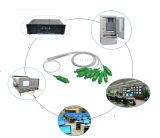 1X 8 mini divisor óptico de acero de fibra del tubo del Sc APC/Upc/PC