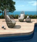PE Rattan e mobiliário de alumínio, sofá Rattan ao ar livre (S0056)