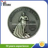 安いエナメルを塗られた旧式な記念品の金属の硬貨