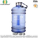 Garrafa de água azul cor exterior PETG plástico (HDP-0618)