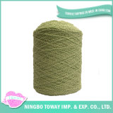 Boucle acrílico colorido costume de lãs de matéria têxtil que tricota manualmente o fio extravagante