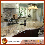 Естественный Polished Countertop кварца/мрамора/гранита желтый каменный для верхней части кухни/ванной комнаты