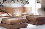 簡単な様式の木のホテルの寝室セット(EMT-B0904)