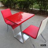 Самомоднейший твердый поверхностный красный цвет обедая стулы и таблица для трактира (161117)