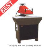 Prensa/zapato calientes de /Clicking /Cutting del corte del brazo del oscilación de la venta que hace la máquina