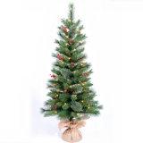 Árvore de Natal verde artificial por atacado da dança com cereja e luz do diodo emissor de luz