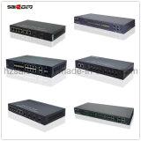 Acceso 10/100 del interruptor 5 de Saicom (SCSW-1104PF) poe