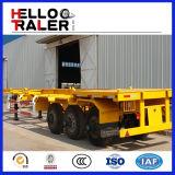 Aanhangwagen van de Chassis van de Container van de Driehoek Tyres20FT van de Aanhangwagen van het skelet de Semi 40FT