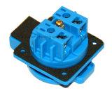 (050101) El Ce TUV 16A IP44 impermeabiliza el receptáculo alemán euro europeo del socket del enchufe de la corriente eléctrica de Schuko para el coche eléctrico del generador industrial
