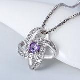 Juwelen van de Halsband van de Manier van de Juwelen van het kristal de Echte Zilveren (NC0330)