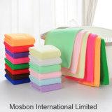 Algodão prático macio luxuoso da fibra de toalha de mão da cara da cor dos doces