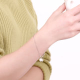 925の純銀の鋼鉄ブレスレットの方法白いシェルのビードの若い銀製のブレスレットロープの鎖