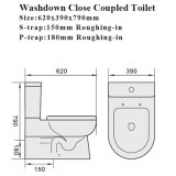 Wasserzeichen-anerkannte gesundheitliche Ware-Arbeitskarte-Ganzwäsche-keramische Toilette (6009)