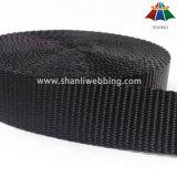 1.5 Zoll-Schwergewichts- schwarzes flaches Polyester-gewebtes Material
