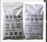 Alginato del sodio del grado de la materia textil, usado como emulsor, Thickenner y Stablizer, goma de teñido