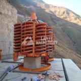Canal inclinado espiral del buen de la venta mineral del tantalio con el diseño 2016