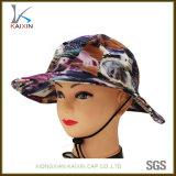 Изготовленный на заказ выдвиженческий флористический шлем рыболовства крышки ведра печатание с шнуром