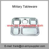 Nécessaires de désordre Vaisselle-Militaires de Couvert-Armée Étain-Militaire de désordre de Cantine-Armée de police