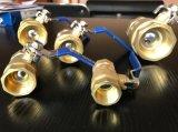 Alta calidad de cobre amarillo de las muestras libres de la venta al por mayor de la vávula de bola de la cuerda de rosca de la maneta del precio de fábrica de la pulgada del 1/2