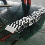 vidro Tempered do balcão do vidro liso de 8mm com furos Drilling