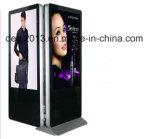 """42 """" jogador de anúncio do painel 42 duplos do LCD do painel do exemplo 4k LCD do quiosque do carrinho do monitor"""