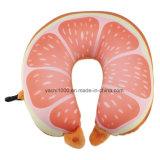印刷のフルーツの首の枕が付いている昇進項目柔らかいプラシ天