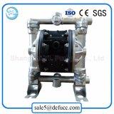 용매를 위해 압축 공기를 넣은 스테인리스 펌프를 투약하는 기계적인 격막