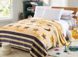 Engrossar único, cobertor impresso dobro, enorme do poliéster do cobertor da flanela (SR-B170316-10)