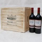 Personalizado Caixa de vinho de madeira de dois garrafas com acessórios de vinho