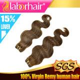 Самый лучший уток человеческих волос объемной волны цвета #4 качества