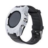 Runde intelligente Uhr S5 mit der Kamera-UnterstützungsSIM Eignung-Verfolger Karte TF-Bluetooth für androiden IOS