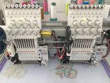 2 Köpfe computergesteuerte Schutzkappen-u. Shirt-Stickerei-Maschinen-Fabrik