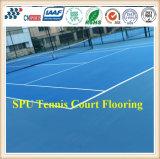 A corte de tênis, plutônio do silicone ostenta a corte, qualificada por Itf